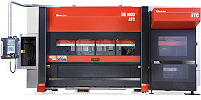 Amada HG-1003 ATC bending sheet-metal machine with automatic tool changer